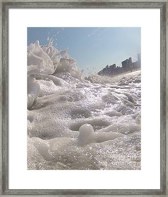 Cool Foam Framed Print