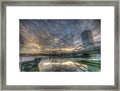Cool Harbor Framed Print by Nathan Wright