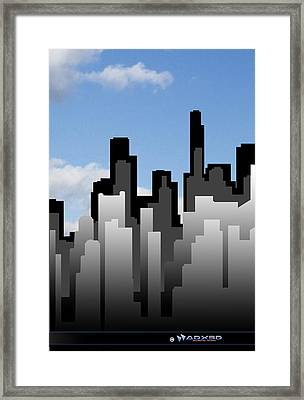 Cool Jazz City  Framed Print