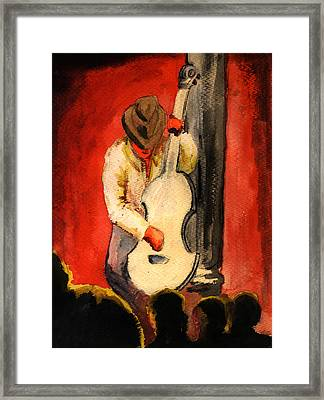 Cool Jazz Served Hot Framed Print by Del Gaizo