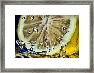 Cool Lemon Framed Print