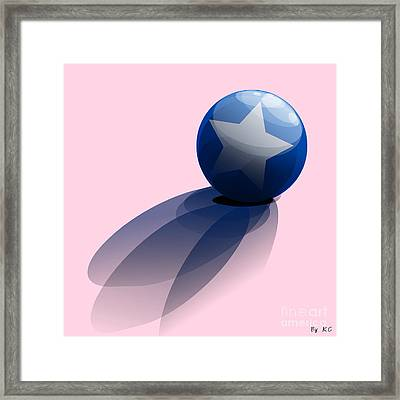 Blue Ball Decorated With Star Framed Print by R Muirhead Art