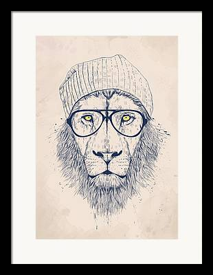 Lion Drawings Framed Prints