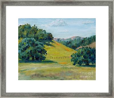 Cool Meadow Framed Print