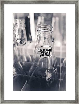 Cool Mountain Soda Framed Print by Jessica Brawley