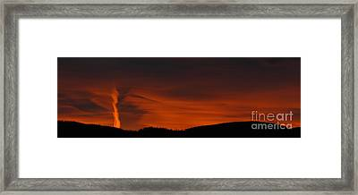 Cool Night Framed Print by Greg Patzer