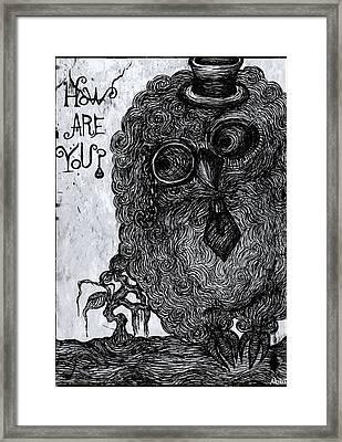 Cool Owl Framed Print by Akiko Okabe