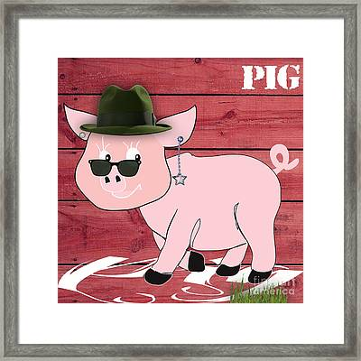 Cool Pig Collection Framed Print