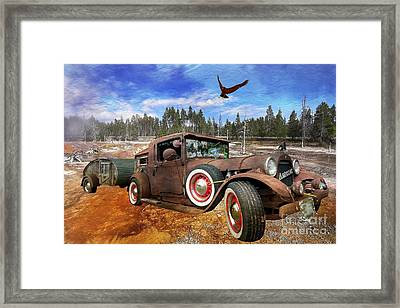 Cool Rusty Classic Ride Framed Print by Liane Wright