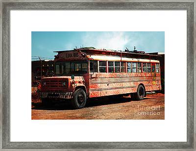 Cool School Bus 5d24927 Framed Print by Wingsdomain Art and Photography