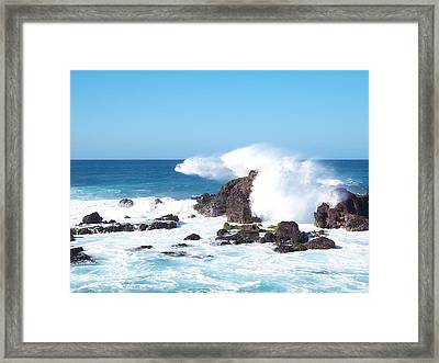 Cool Spray Framed Print