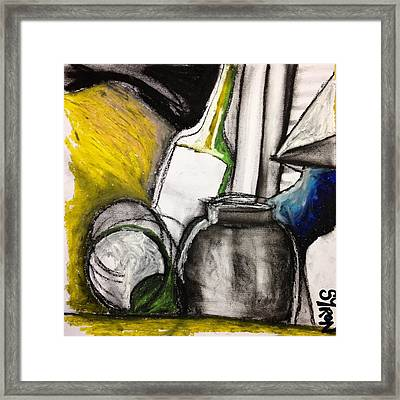 Cool Still Life Framed Print