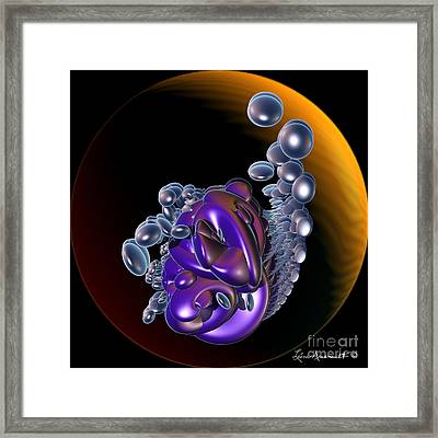 Cool Stones Framed Print by Leona Arsenault