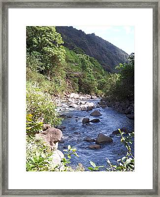 Framed Print featuring the photograph Cool Stream by Sheila Byers