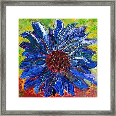 Cool Sunflower On A Sunny Day Framed Print