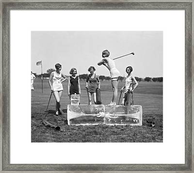 Cool Tee Time Framed Print by Underwood Archives