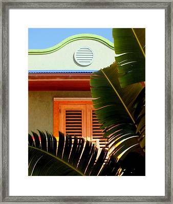 Cool Tropics Framed Print by Karen Wiles