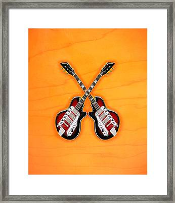 Cool Vintage Guitar Framed Print
