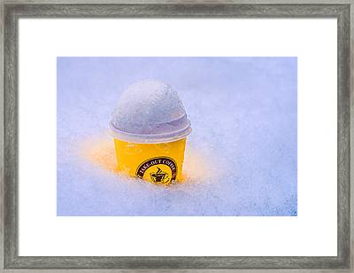 Cool Warming Coffee Framed Print by Alexander Senin