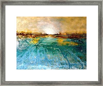 Cool Water Framed Print by Michelle Dommer
