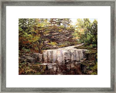 Cool Waterfall Framed Print
