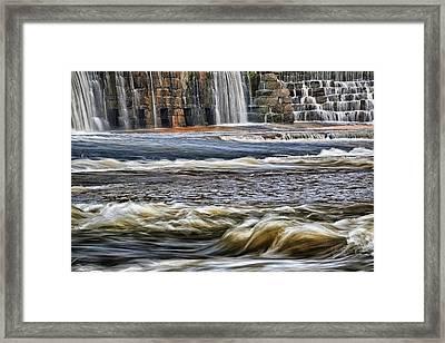 Cooleemee Falls 3 Framed Print by Patrick M Lynch