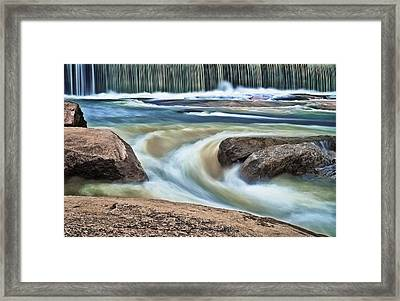 Cooleemee Falls 5 Framed Print by Patrick M Lynch