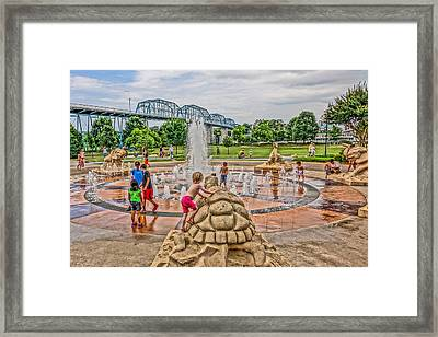 Coolidge Park Fountain  Framed Print by Tom and Pat Cory
