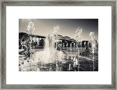 Coolidge Park Fountains Framed Print