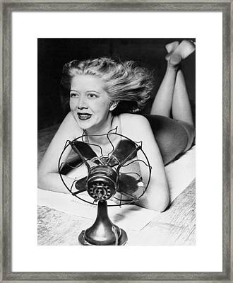 Cooling Fan For Hot Spell Framed Print by Joe Denarie