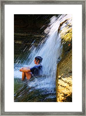 Cooling Off At Stony Brook State Park Framed Print