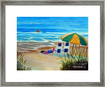 Framed Print featuring the painting Cooling Off by Shelia Kempf