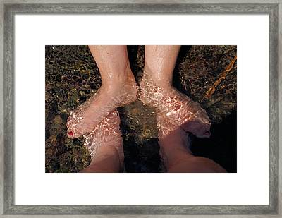 Framed Print featuring the digital art Cooling The Feet by Ron Harpham