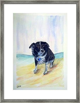 Framed Print featuring the painting Coop Dog Sold by Richard Benson
