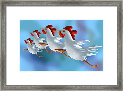 Coop Troupe  Framed Print by Tom Dickson