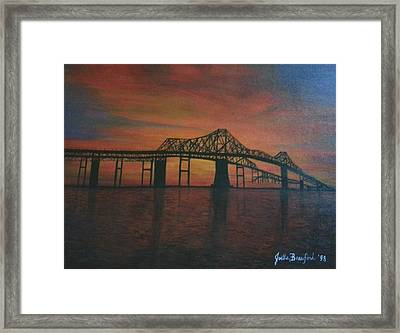 Cooper River Bridge Memories Framed Print