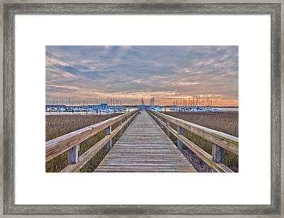 Cooper River Marina Framed Print by Donnie Smith