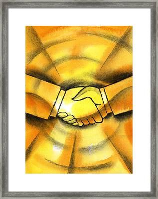 Cooperation Framed Print by Leon Zernitsky