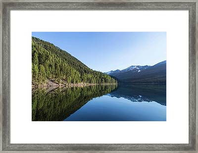 Coopers Lake In The Lolo National Framed Print by Chuck Haney