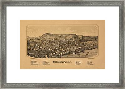 Cooperstown New York 1890 Framed Print by Andrew Fare