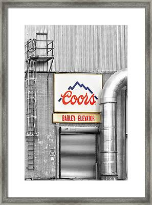 Coors Barley Elevator Bw Color Framed Print by James BO  Insogna