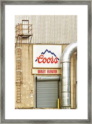 Coors Barley Elevator  Framed Print by James BO  Insogna
