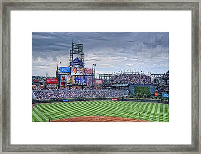 Coors Field Framed Print