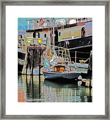 Coos Bay Harbor Framed Print