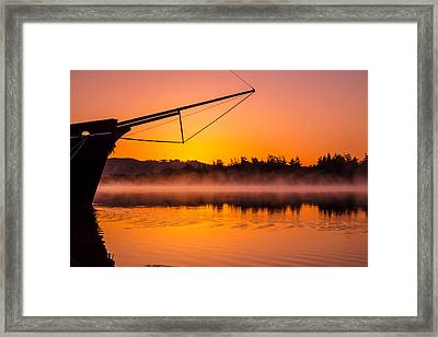 Coos Bay Sunrise II Framed Print by Robert Bynum