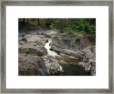 Coos Canyon In Maine Framed Print