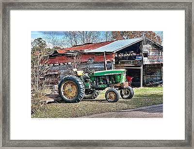Coosaw - John Deere Tractor Framed Print