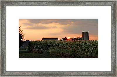 Coountry Sunset Framed Print by Victoria Sheldon