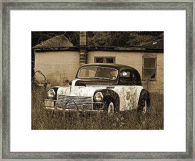 Cop Cruiser Framed Print by David T Wilkinson