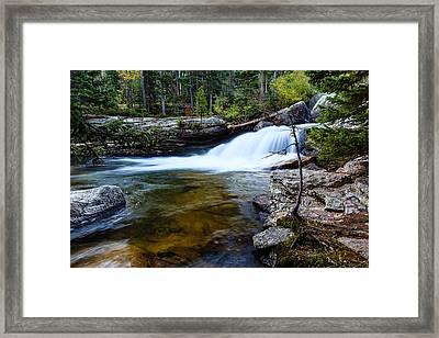 Copeland Falls Rockies Framed Print